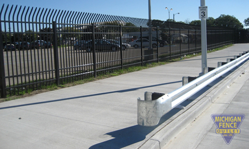 High Security Aluminium Fence with Steel Gaurdrail