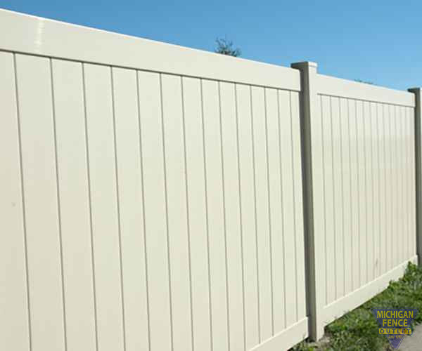 White Chesterfield Smooth Vinyl Fence