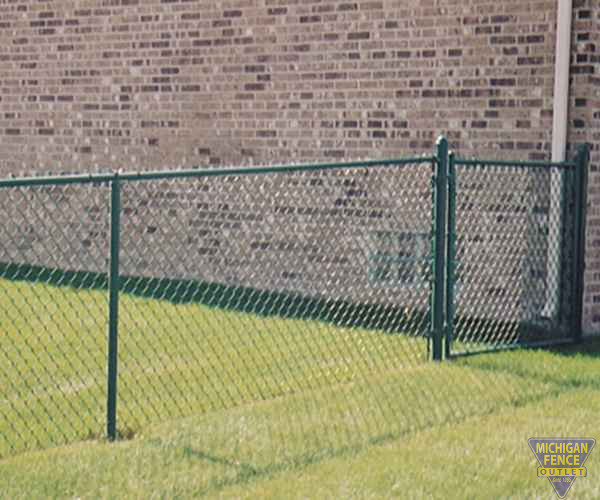 Green Chain-link Fence